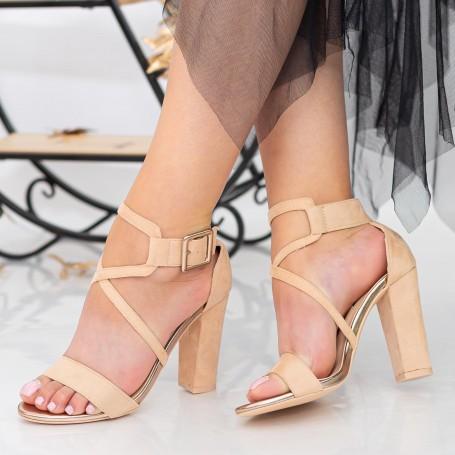 Sandale Dama cu Toc gros XKK160D Pink Mei