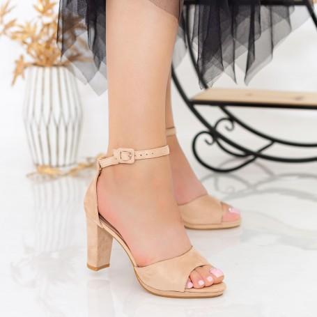 Sandale Dama cu Toc gros XD238T Pink Mei