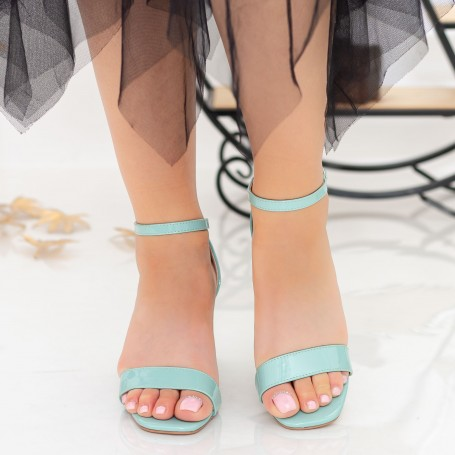 Sandale Dama cu Toc gros XKK228 Green Mei
