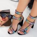 Sandale Dama cu Toc gros XKK235A Multicolour (---) Mei