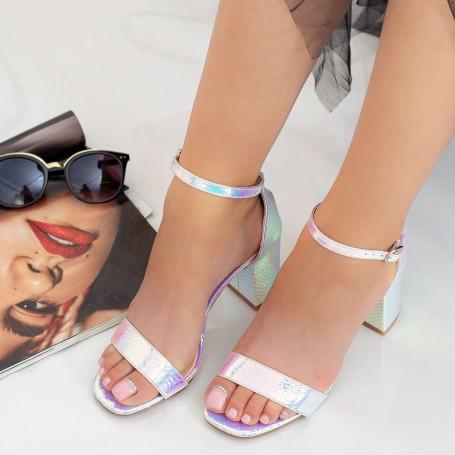 Sandale Dama cu Toc gros XKK228 Pink Mei