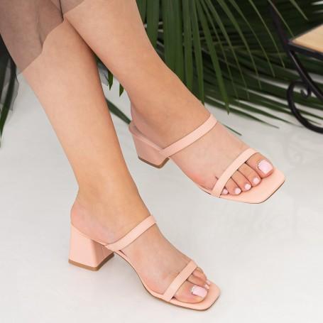 Sandale Dama cu Toc gros GH1952 Pink Mei