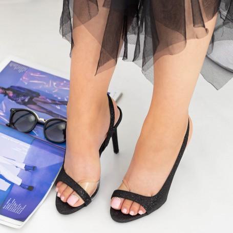 Sandale Dama cu Toc subtire GH1958 Black Mei