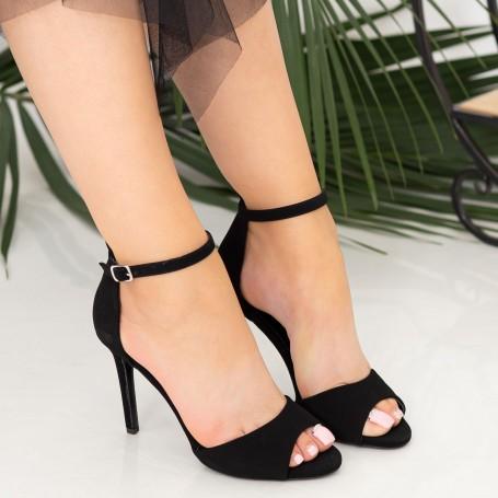 Sandale Dama cu Toc subtire GH1962 Black Mei