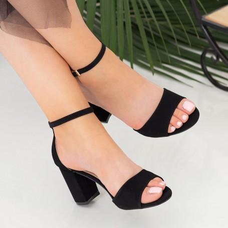 Sandale Dama cu Toc gros RG1 Black Mei