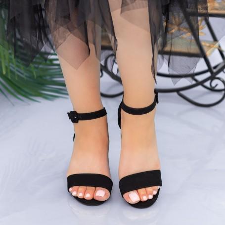 Sandale Dama cu Toc gros XKK237 Black Mei