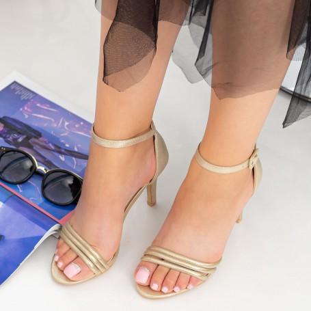 Sandale Dama cu Toc subtire YXD7A Gold Mei