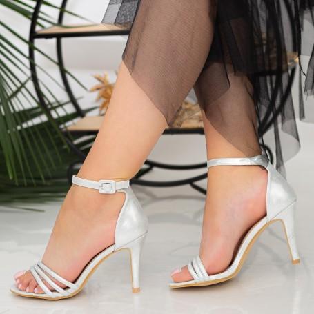 Sandale Dama cu Toc subtire YXD7A Silver Mei