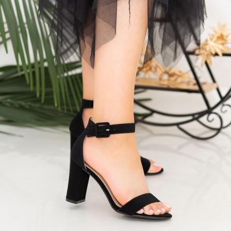 Sandale Dama cu Toc gros YXD10 Black Mei