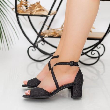Sandale Dama cu Toc XDR277A Black Reina