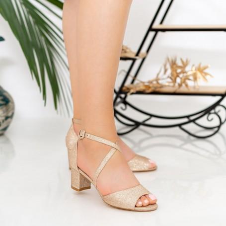 Sandale Dama cu Toc XDR277A Champagne Reina