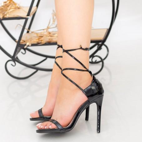Sandale Dama cu Toc subtire XKK232 Black Reina