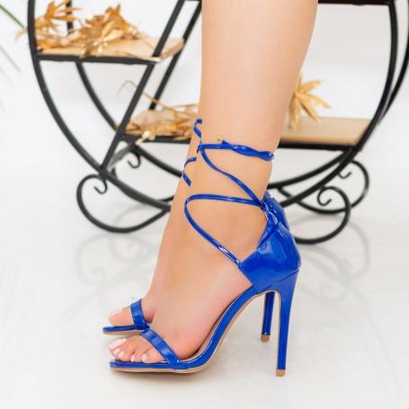 Sandale Dama cu Toc subtire XKK232 Blue Reina