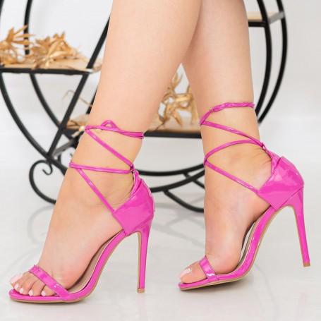 Sandale Dama cu Toc subtire XKK232 Roseo Reina