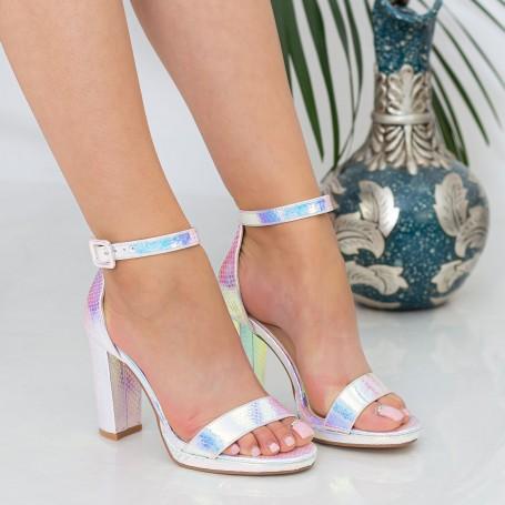 Sandale Dama cu Toc gros XKK222A Pink Mei