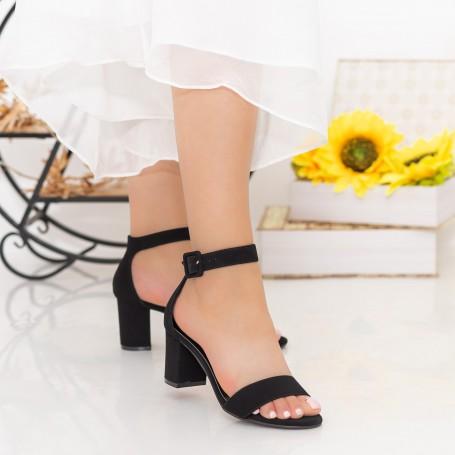 Sandale Dama cu Toc gros XKK230 Black Mei