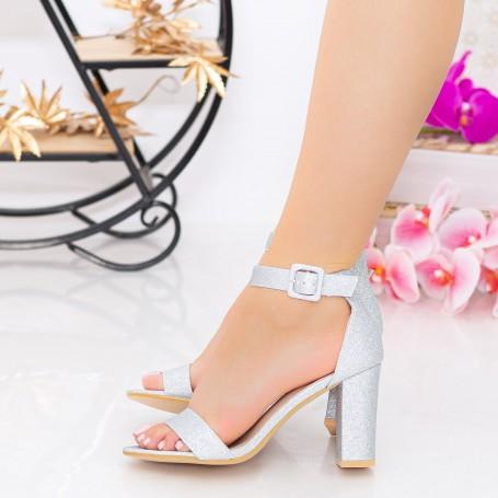 Sandale Dama cu Toc gros YXD10A Silver Mei