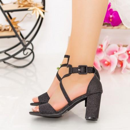 Sandale Dama cu Toc gros XDR276A Black Mei