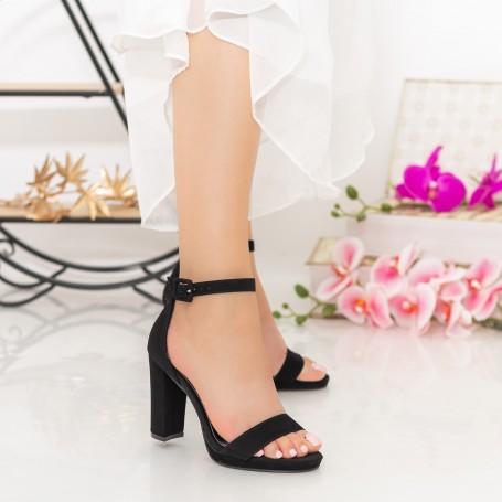 Sandale Dama cu Toc gros XKK222 Black Mei