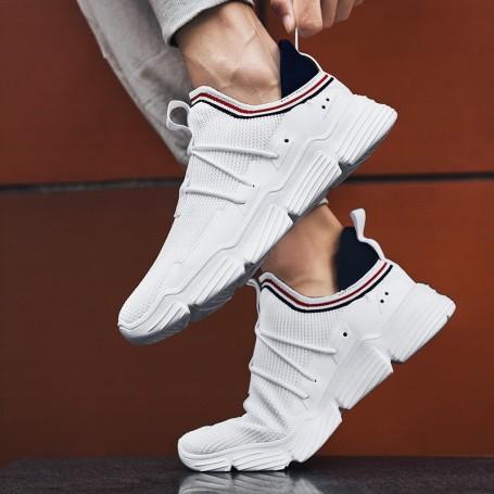 Pantofi Sport Barbati 1617 Alb Mei