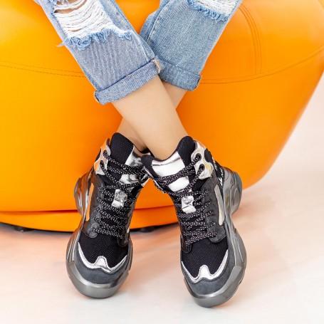Pantofi Sport Dama cu Platforma SZ251 Black Mei