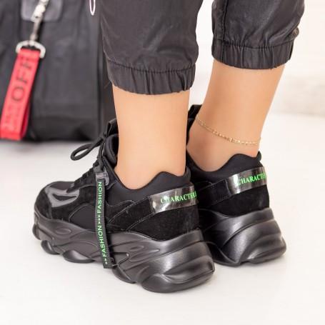Pantofi Sport Dama SZ283 Negru Mei