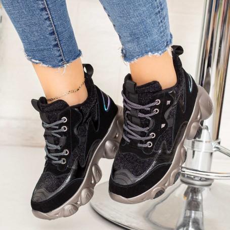 Pantofi Sport Dama SZ277 Negru Mei