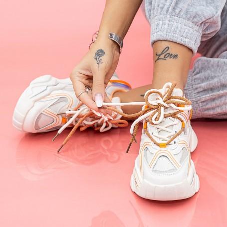 Pantofi Sport Dama LGYED7 Bej-Portocaliu Mei