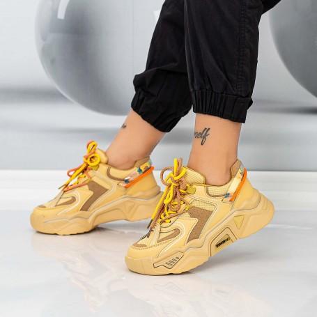 Pantofi Sport Dama LGYED7 Galben Mei