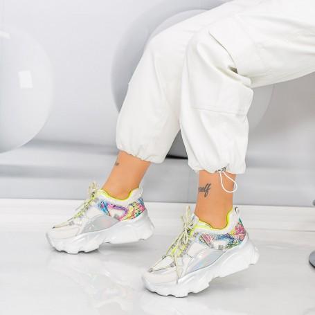 Pantofi Sport Dama SZ301 Alb Mei