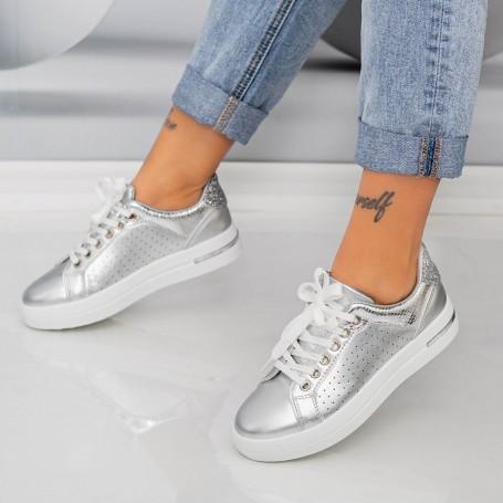 Pantofi Sport Dama AN85 Argintiu Mei