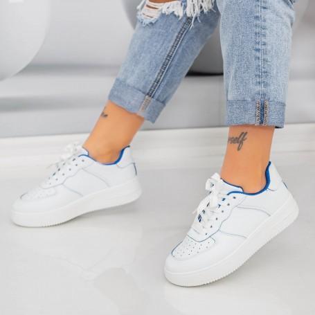 Pantofi Sport Dama AN87 Alb-Albastru Mei