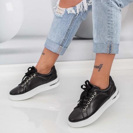 Pantofi Sport Dama AN85 Negru-Alb Mei