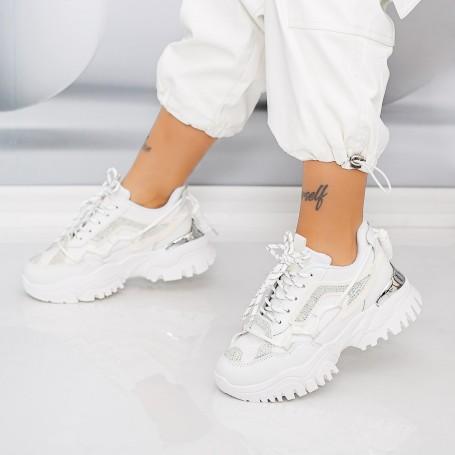 Pantofi Sport Dama HMM31 Alb Mei