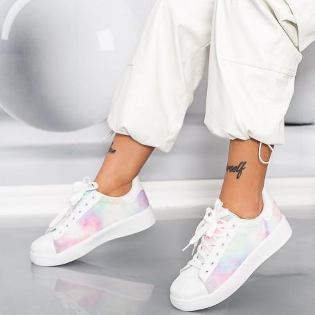 Pantofi Sport Dama YKQ231 Alb Mei