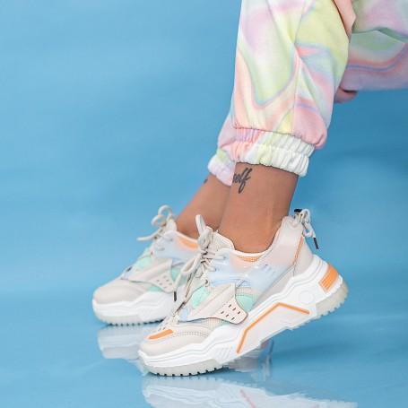 Pantofi Sport Dama HMM36 Portocaliu Mei