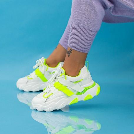 Pantofi Sport Dama WLLL10 Alb Mei