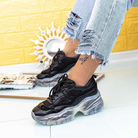 Pantofi Sport Dama SZ307 Negru Mei