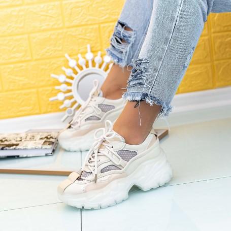 Pantofi Sport Dama SZ307 Bej Mei
