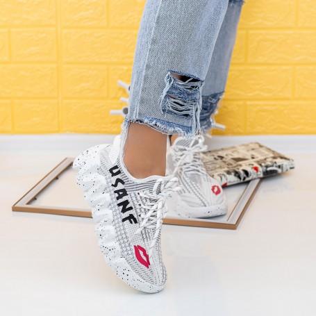 Pantofi Sport Dama LGMB8 Alb Mei