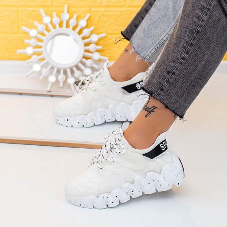 Pantofi Sport Dama LGMB9 Alb Mei