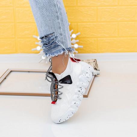 Pantofi Sport Dama LGMB10 Alb Mei