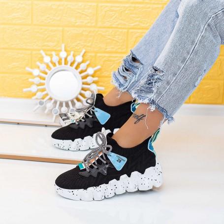 Pantofi Sport Dama LGMB10 Negru-Alb Mei