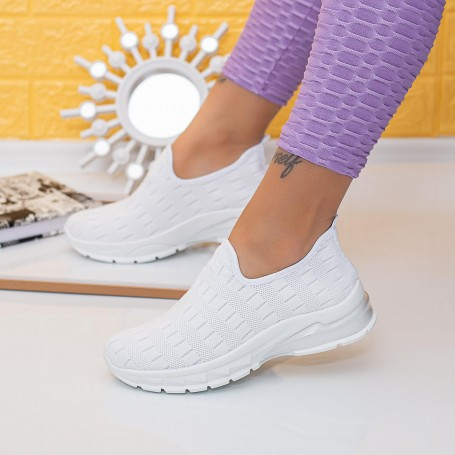 Pantofi Sport Dama TF11 Alb Mei