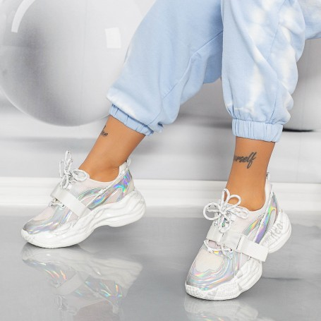 Pantofi Sport Dama SZ318 Argintiu Mei