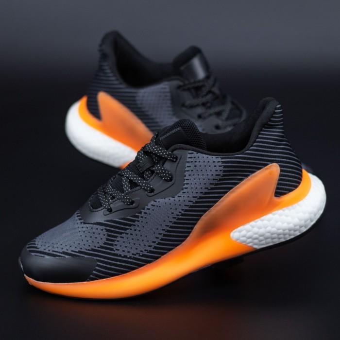 Pantofi Sport Barbati 706 Negru-Portocaliu Mei