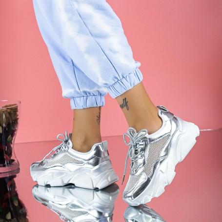 Pantofi Sport Dama SZ310 Argintiu Mei
