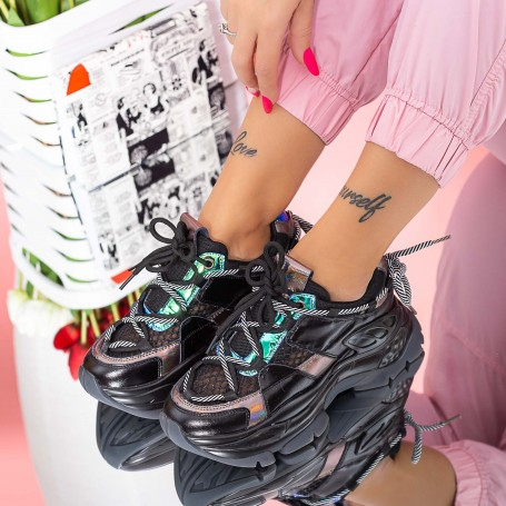 Pantofi Sport Dama SZ311 Negru Mei