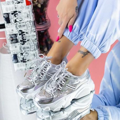 Pantofi Sport Dama SZ313 Argintiu Mei