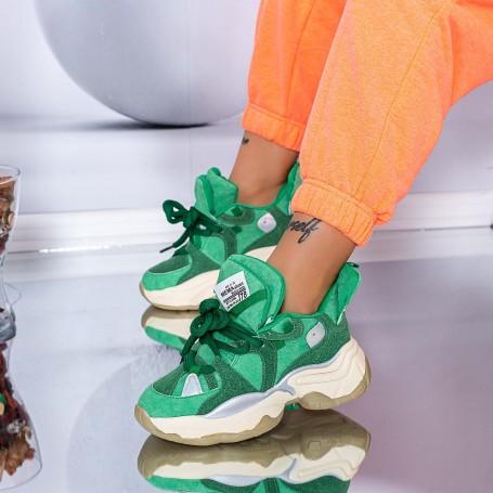 Pantofi Sport Dama 98109 Verde Mei